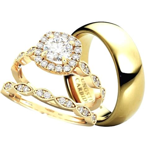 made for two his hers wedding ring set