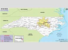 984 Area Code Map, Where is 984 Area Code in North Carolina