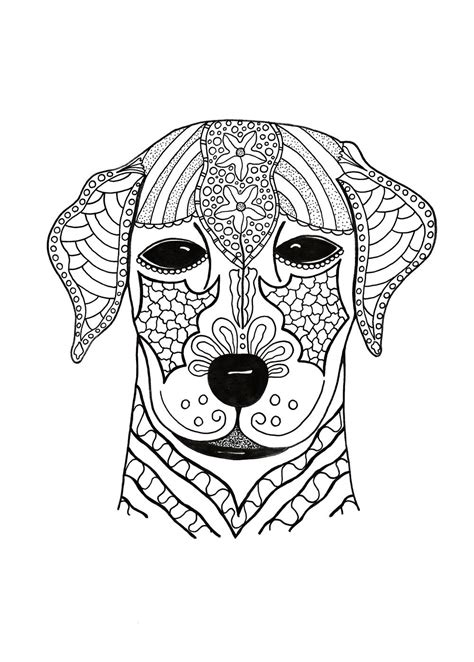 woof  adult coloring page favecraftscom