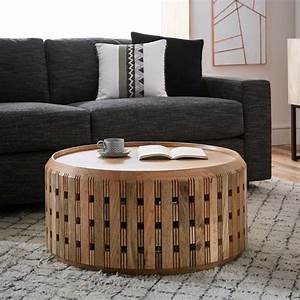 pierced wood drum coffee table west elm With west elm drum coffee table