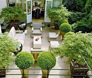 gestaltung einer dachterrasse inspirationen fur den With garten planen mit mini thuja für balkon