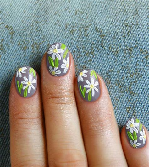 flower nail art simple  easy tutorial