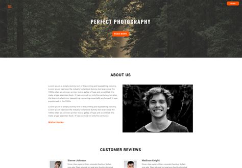 top free photography website templates top 10 free photography website bootstrap template of all time