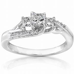 kobelli 1 2 carat cttw diamond engagement ring curved 3 With curved wedding band for three stone ring