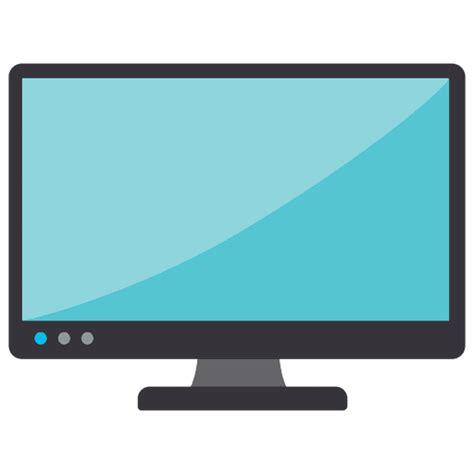 desktop icon transparent flat desktop monitor transparent png svg vector