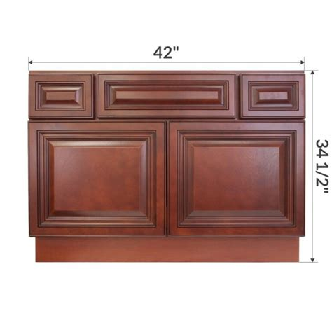 42 inch base kitchen cabinet vsb4221345 cherryville 42 quot vanity sink base cabinet rta 10262