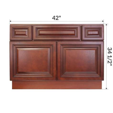 42 inch sink base cabinet white vsb4221345 cherryville 42 quot vanity sink base cabinet rta