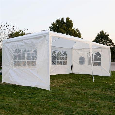 gazebo canopy 10 x 20 white tent canopy gazebo w 4 sidewalls