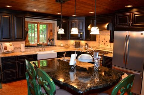 upstate ski chalet contemporary kitchen  metro