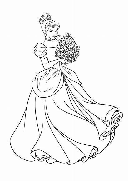 Disney Coloring Princess Cinderella Coloriage Malvorlagen Ausmalen