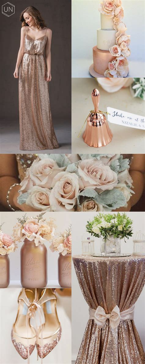 Rose gold wedding inspiration Gold wedding theme Gold