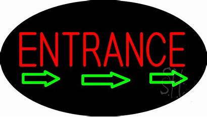 Entrance Neon Sign Animated Arrow