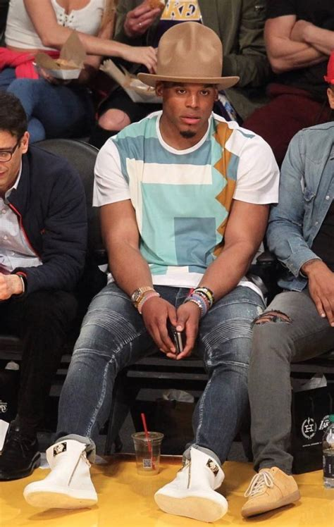 cam newton attends lakers  cavs game  vivienne