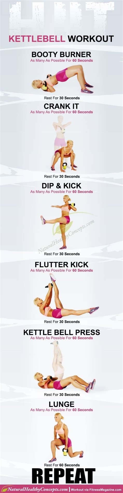 kettlebell hiit workout minute workouts fitness wednesday exercise training exercises printable body graphic healthy week naturalhealthyconcepts tabata motivation kettle bell