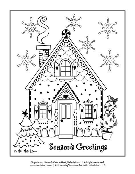 page holiday coloring book artlicensingshowcom   virtual art licensing show