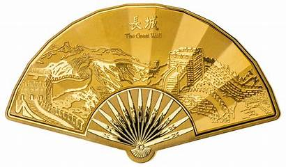 Chinese Fan Lunar Medal Shaped 3rd Edition
