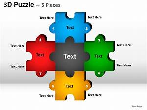 5 puzzle pieces powerpoint presentation templates With puzzle piece powerpoint template free