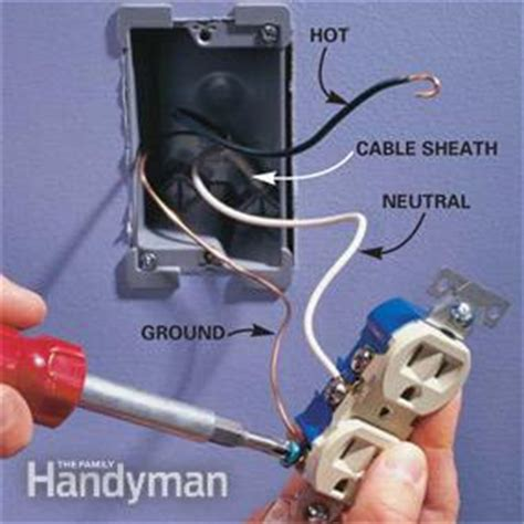 how to wire an outlet and add an electrical outlet the family handyman