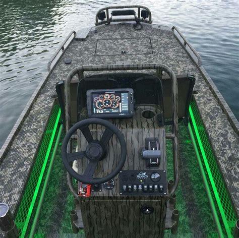Amazing Custom Jon Boat With Led Lights Ice Fishing