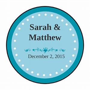 Colonial azure wedding envelope seal label label for 5 inch round labels