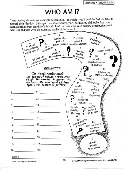 who am i science worksheet who best free printable