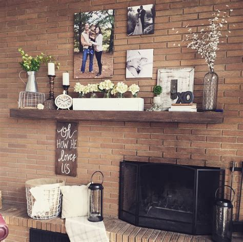 decorating  offset fireplace fireplace makeover fall