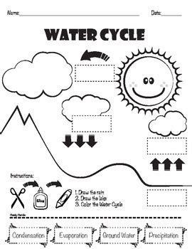 water cycle matching by cheeky cherubs teachers pay teachers