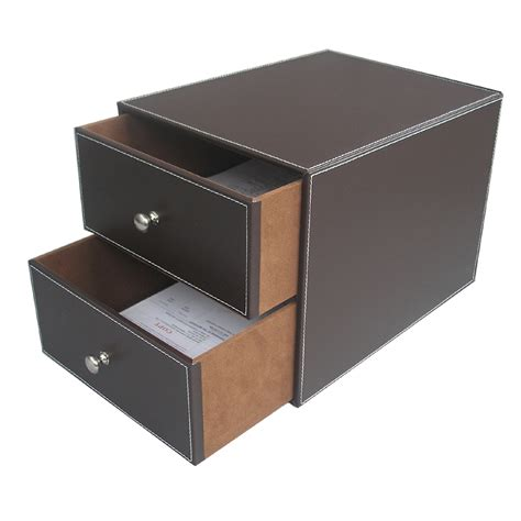 brown desk with drawers brown 2 drawer leather office desk file cabinet organizer