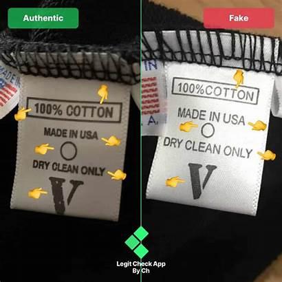 Vlone Tag Smiley Fake Wash Tee App