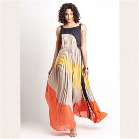 color block maxi dress gracia dresses accordian colorblock maxi dress poshmark