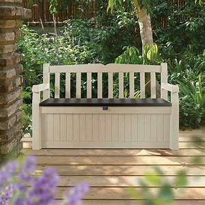 eden plastic garden storage bench departments diy at bq With katzennetz balkon mit keter garden bench