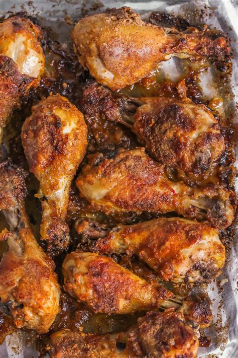 baked chicken oven legs drumsticks delicious