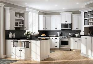 Kitchen cabinets at the home depot for Best brand of paint for kitchen cabinets with wall hangings art