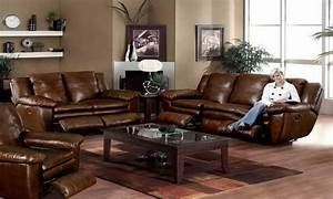 bedroom furniture and decor brown leather sofa living With leather sofa living room design
