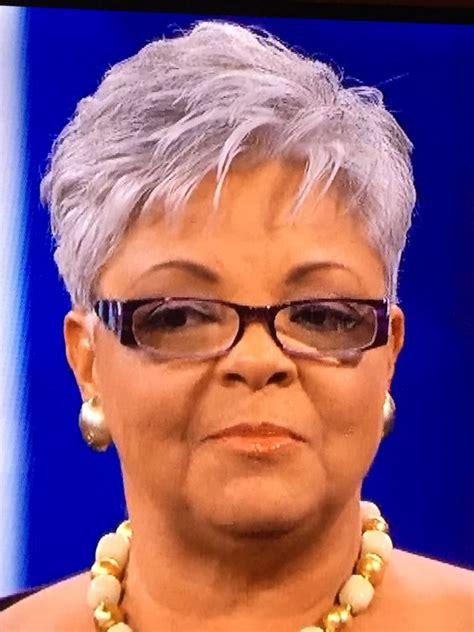 older women  glasses  grey pixie haircut short