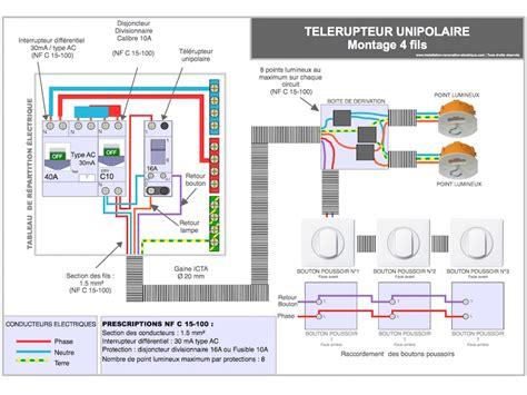 le telerupteur schema symbole plan  cablage electrique