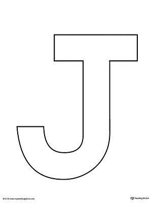 uppercase letter  template printable vpk letter