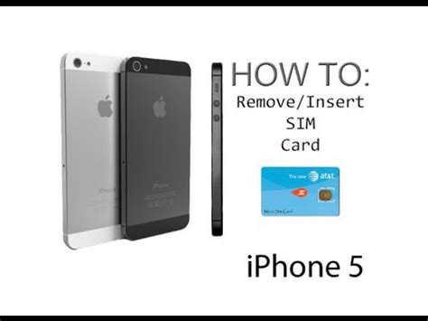 how to on iphone 5s iphone 5 5s how to insert remove a sim card