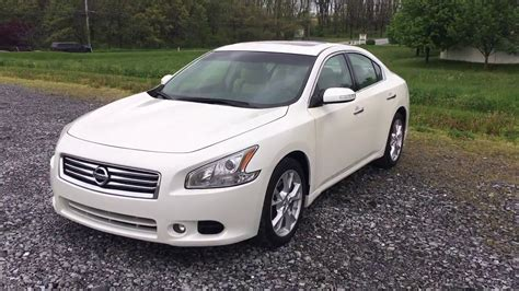 white nissan maxima 2014 nissan maxima sv w sunroof pearl white youtube