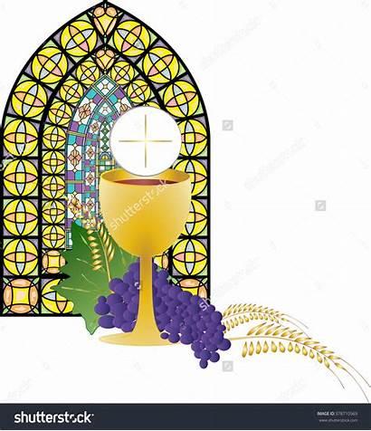 Eucharist Clipart Bread Chalice Wine Communion Host