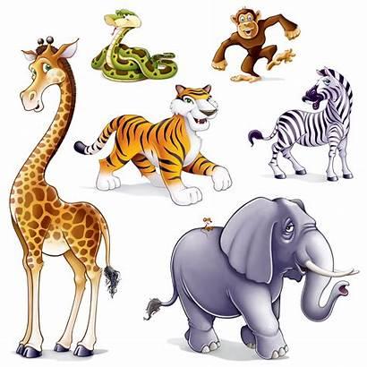 Clipart Animals Wild Jungle Clip Safari Scene