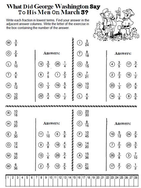 6th grade math worksheets simplifying fractions fraction
