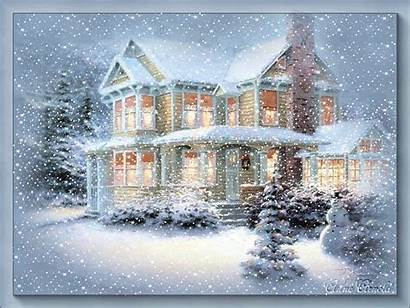 Snow Animated Scene Scenes Moving Winter Wonderland