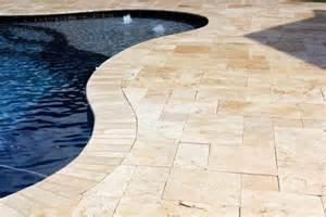 Travertine Pavers Over Concrete Image
