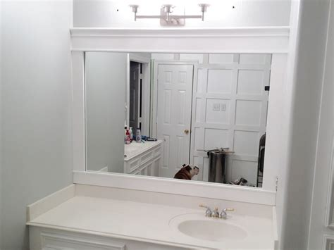 bathroom mirror ideas for single sink single sink vanity wall mirror with easy white wooden