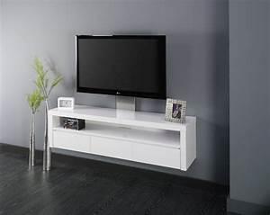 Meuble Cache Tv : meuble suspendu pour tele ~ Premium-room.com Idées de Décoration