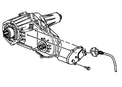 changing transfer case shift motor