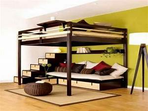 great bunk beds with couch underneath big boys room With loft bed with sofa and desk underneath