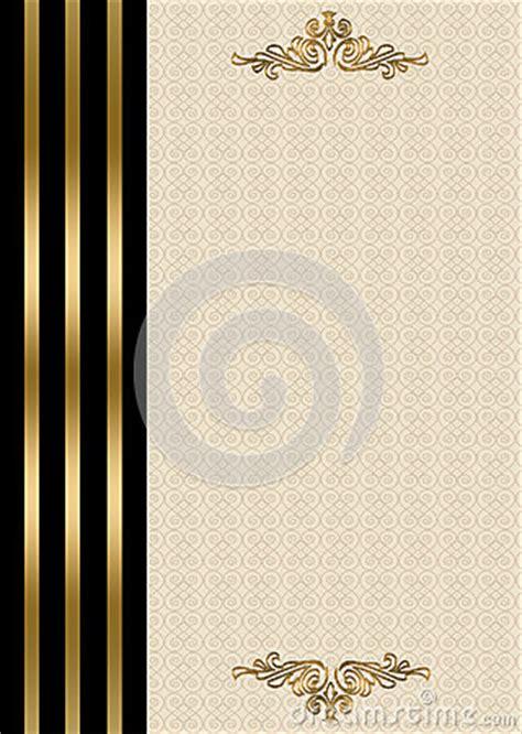 wedding invitation gold  black border royalty