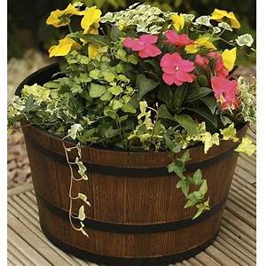 Whiskey Barrel Planter - Round Whisky Planters